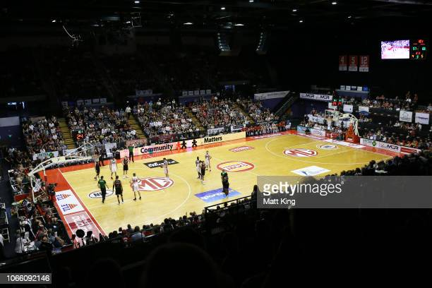 General view during the round five NBL match between the Illawarra Hawks and the Perth Wildcats at Wollongong Entertainment Centre on November 11,...