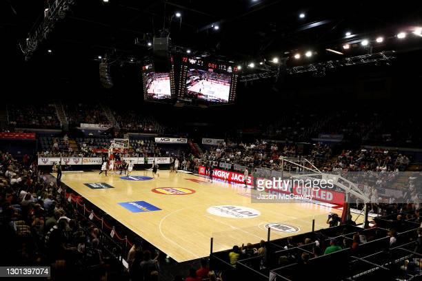 General view during the round five NBL match between the Illawarra Hawks and Melbourne United at WIN Entertainment Centre, on February 10 in...