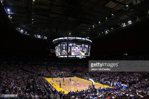 General view during the round four NBL match between the Sydney Kings and the Brisbane Bullets at Qudos Bank Arena on October 26, 2019 in Sydney,...