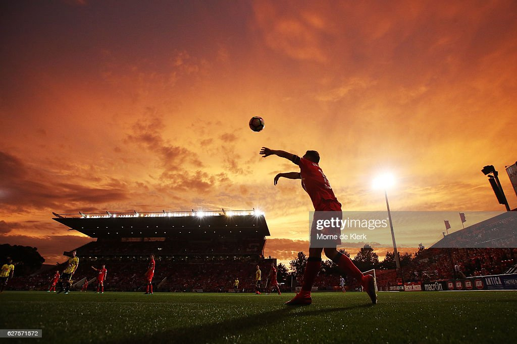 A general view during the round nine A-League match between Adelaide United and the Wellington Phoenix at Coopers Stadium on December 4, 2016 in Adelaide, Australia.