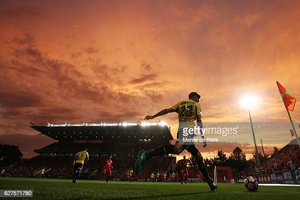A general view during the round nine ALeague match between Adelaide United and the Wellington Phoenix at Coopers Stadium on December 4 2016 in...
