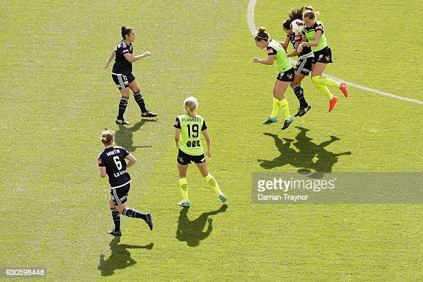 A general view during the round nine WLeague match between Melbourne and Canberra at AAMI Park on December 28 2016 in Melbourne Australia