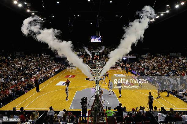 General view during the round one NBL match between the Illawarra Hawks and the Adelaide 36ers at the Wollongong Entertainment Centre on October 7,...