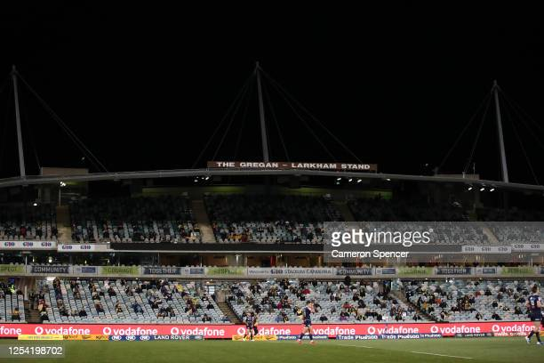 General view during the round one Super Rugby AU match between the Brumbies and the Rebels at GIO Stadium on July 04, 2020 in Canberra, Australia.