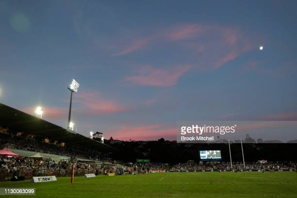 A general view during the round one Super Rugby match between the Waratahs and the Hurricanes at Brookvale Oval on February 16 2019 in Sydney...