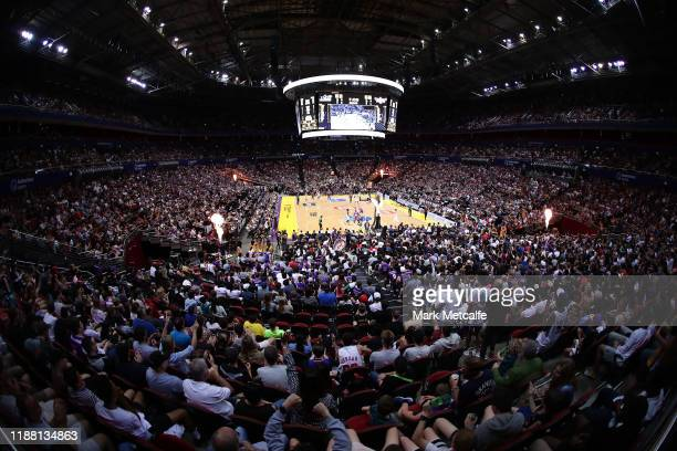 General view during the round seven NBL match between the Sydney Kings and the Illawarra Hawks at Qudos Bank Arena on November 17, 2019 in Sydney,...