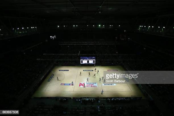 A general view during the round seven Super Netball match between the Magpies and the Vixens at Hisense Arena on April 2 2017 in Melbourne Australia