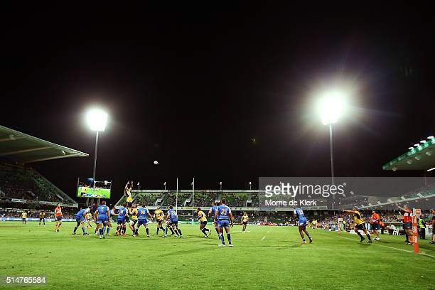 A general view during the round three Super Rugby match between the Western Force and the Brumbies at nib Stadium on March 11 2016 in Perth Australia