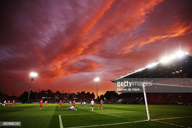 A general view during the round two ALeague match between Adelaide United and the Western Sydney Wanderers at Coopers Stadium on October 16 2015 in...