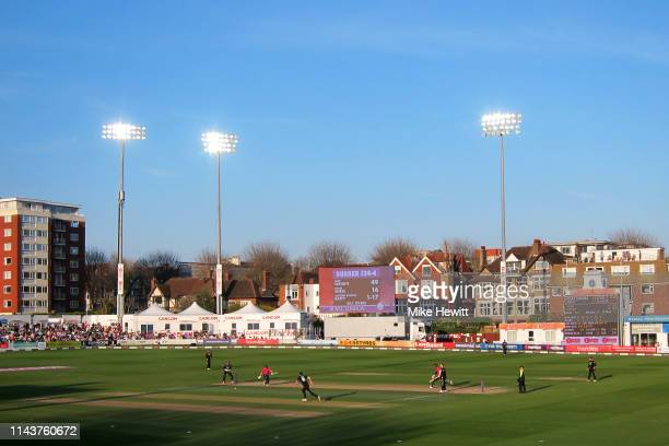 General view during the Royal London One Day Cup match between Sussex and Surrey at County Ground on April 19, 2019 in Hove, England.