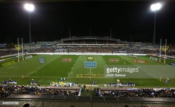 General view during The Rugby Championship match between the Australian Wallabies and the Argentina Pumas at Canberra Stadium on September 16, 2017...