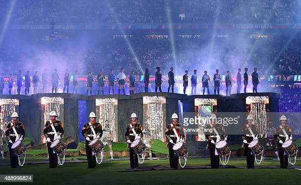 A general view during the Rugby World Cup 2016 Opening Ceremony at Twickenham Stadium on September 18 2015 in London England