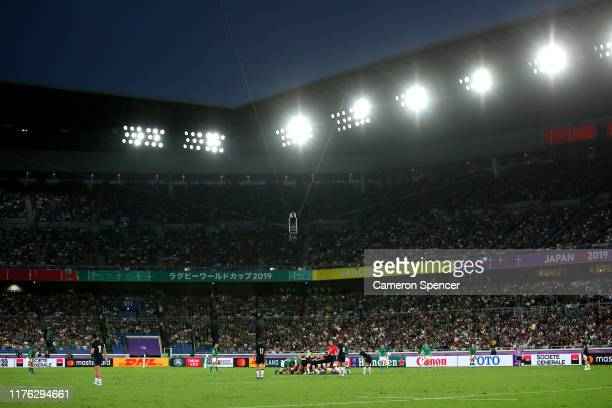 A general view during the Rugby World Cup 2019 Group A game between Ireland and Scotland at International Stadium Yokohama on September 22 2019 in...