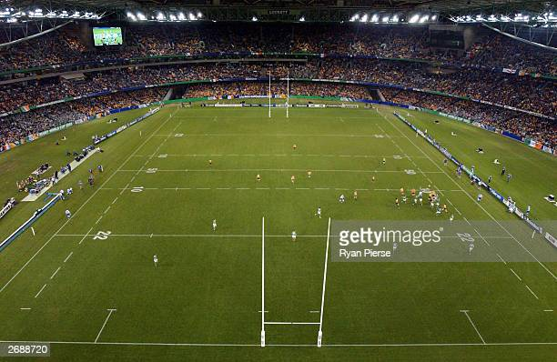 General view during the Rugby World Cup Pool A match between Australia and Ireland at Telstra Dome November 1, 2003 in Melbourne, Australia.
