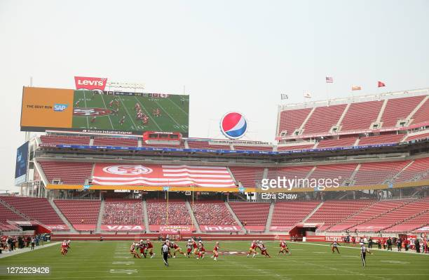 General view during the San Francisco 49ers game against the Arizona Cardinals at Levi's Stadium on September 13, 2020 in Santa Clara, California.