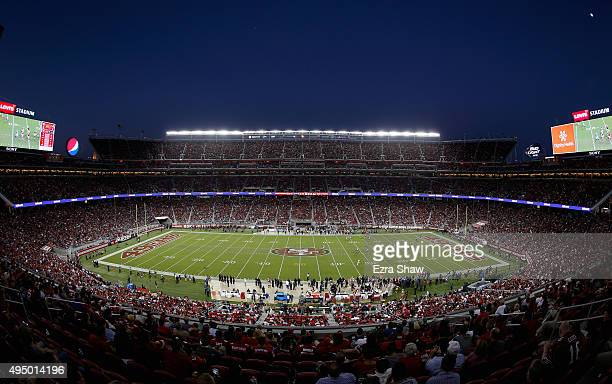 A general view during the San Francisco 49ers game against the Seattle Seahawks at Levi's Stadium on October 22 2015 in Santa Clara California