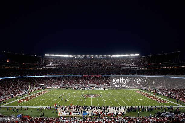 General view during the San Francisco 49ers game against the Seattle Seahawks at Levi's Stadium on October 22, 2015 in Santa Clara, California.