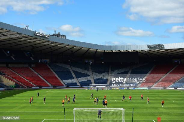 General view during the Scotland training session at Hampden Park on June 7, 2017 in Glasgow, Scotland.