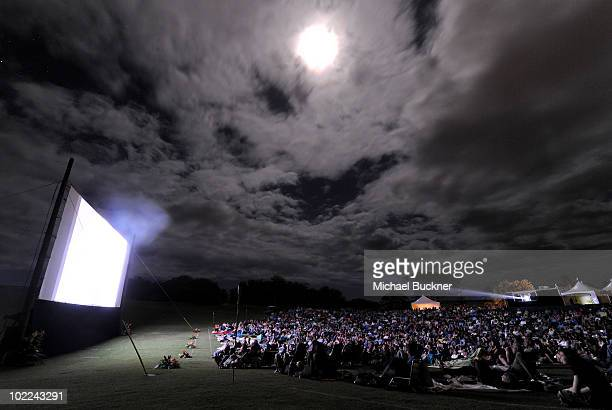 A general view during the screening of 'Happythankyourmoreplease' during the 2010 Maui Film Festival at the Celestial Cinema on June 19 2010 in...