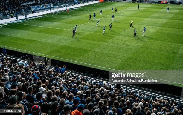 General view during the Second Bundesliga match between SV Darmstadt 98 and SV Werder Bremen at Merck-Stadion am Boellenfalltor on October 17, 2021...