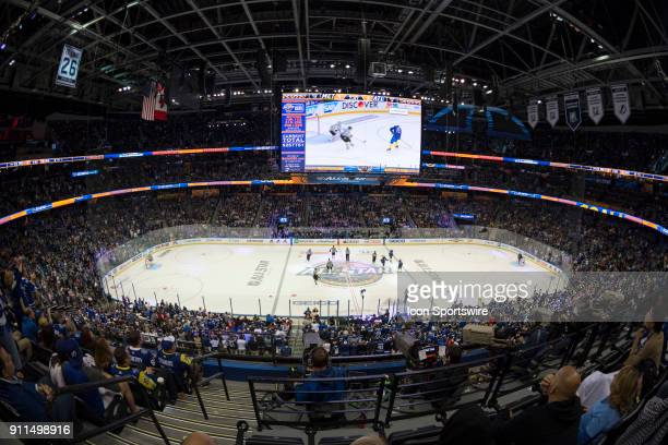 A general view during the second game of the NHL AllStar Game between the Metropolitan and Atlantic Divisions on January 28 at Amalie Arena in Tampa...