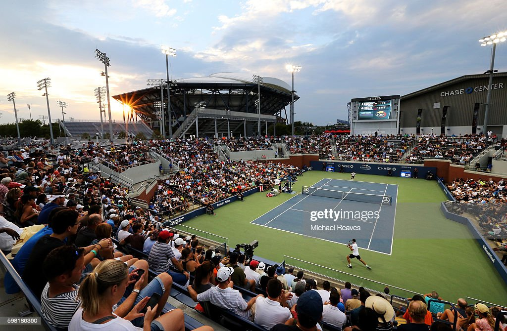 A general view during the second round Men's Singles match between Sergiy Stakhovsky of Ukraine and Marin Cilic of Croatia on Day Three of the 2016 US Open at the USTA Billie Jean King National Tennis Center on August 31, 2016 in the Flushing neighborhood of the Queens borough of New York City.