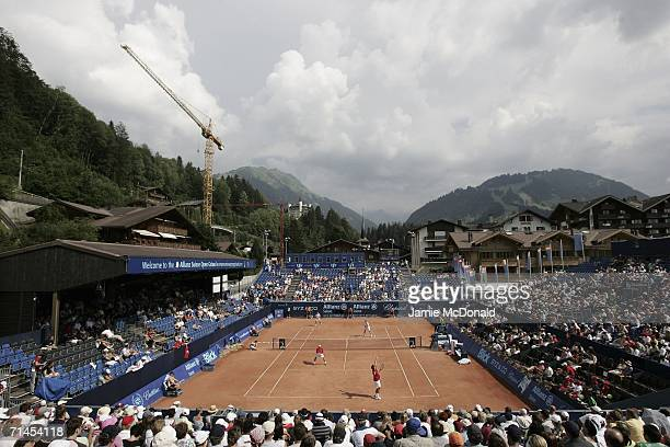 General view during the second round of the Allianz Suisse Open at the Roy Emerson Arena on July 15, 2006 in Gstaad, Switzerland.