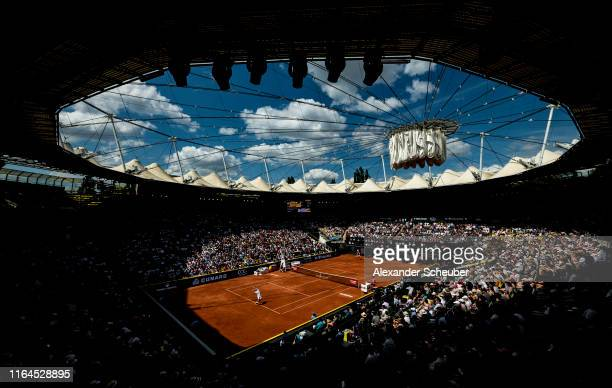 A general view during the semifinal match between Alexander Zverev of Germany and Nikoloz Basilashvili of Georgia during the Hamburg Open 2019 at...