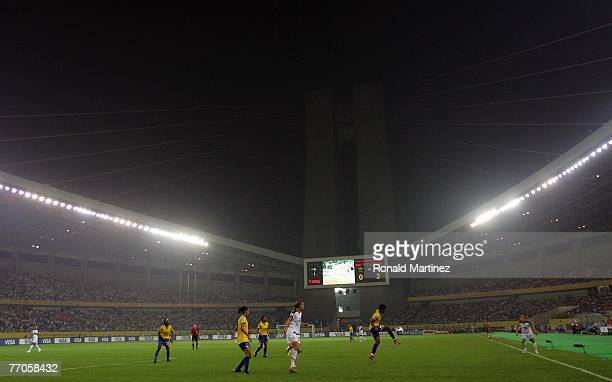 A general view during the semifinal of the Women's World Cup 2007 match between USA and Brazil at Hangzhou Dragon Stadium on September 27 2007 in...