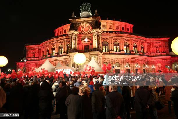 A general view during the Semper Opera Ball 2017 at Semperoper on February 3 2017 in Dresden Germany