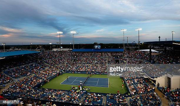 General view during the Serena Williams and Elina Svitolina of Ukraine match during the semifinals of the Western & Southern Open at the Linder...