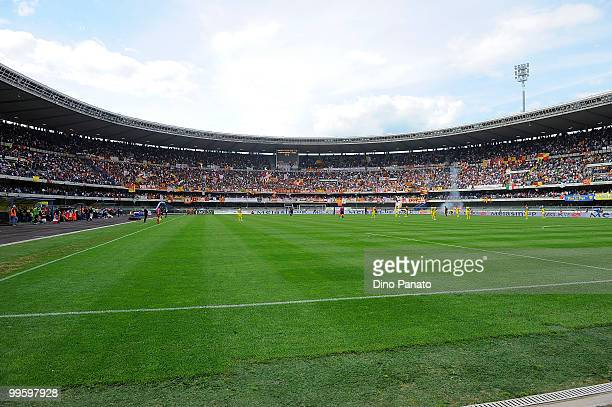A general view during the Serie A match between AC Chievo Verona and AS Roma at Stadio Marc'Antonio Bentegodi on May 16 2010 in Verona Italy