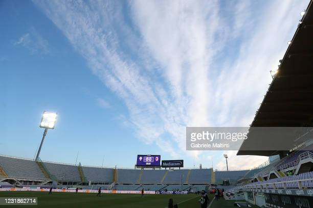 General view during the Serie A match between ACF Fiorentina and AC Milan at Stadio Artemio Franchi on March 21, 2021 in Florence, Italy.