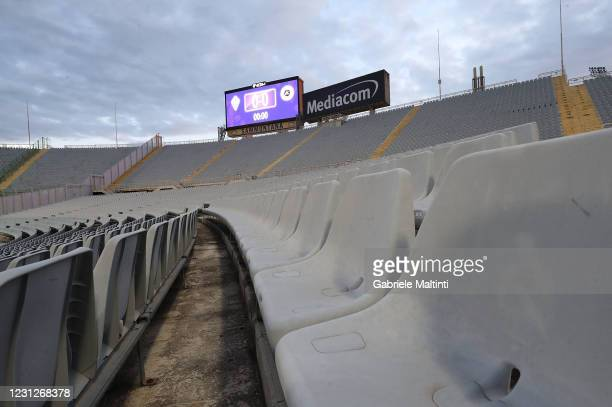 General view during the Serie A match between ACF Fiorentina and Spezia Calcio at Stadio Artemio Franchi on February 19, 2021 in Florence, Italy.