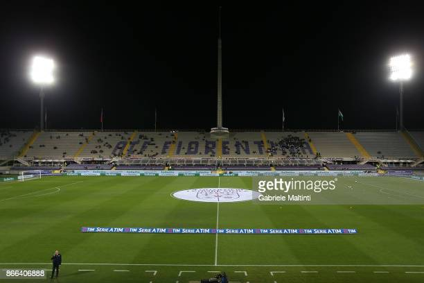 General view during the Serie A match between ACF Fiorentina and Torino FC at Stadio Artemio Franchi on October 25 2017 in Florence Italy