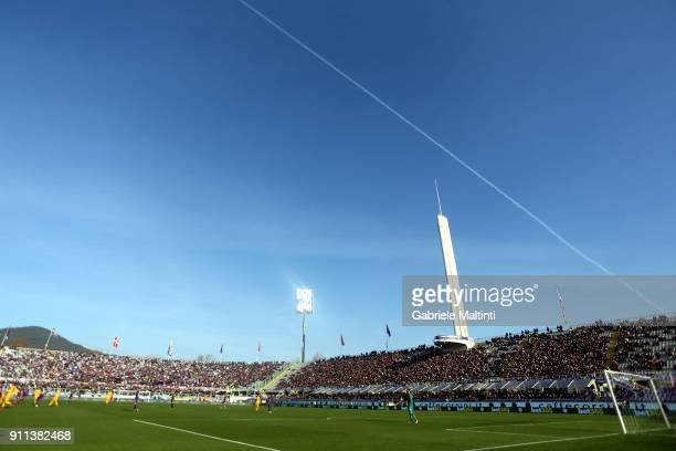 General view during the serie A match between ACF Fiorentina and Hellas Verona FC at Stadio Artemio Franchi on January 28 2018 in Florence Italy