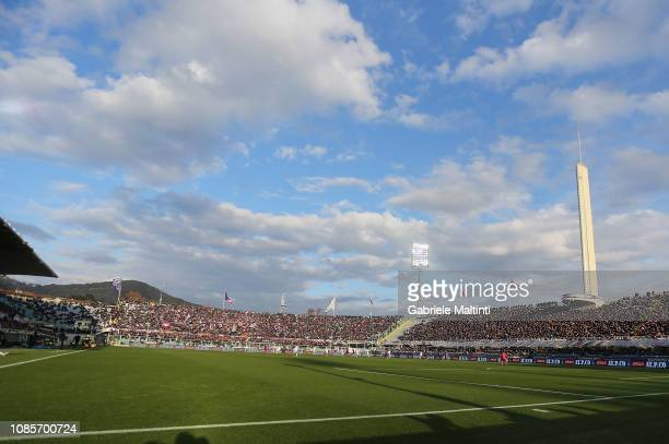 General view during the Serie A match between ACF Fiorentina and UC Sampdoria at Stadio Artemio Franchi on January 20, 2019 in Florence, Italy.