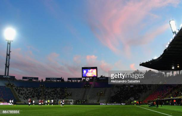 A general view during the Serie A match between Bologna FC and Cagliari Calcio at Stadio Renato Dall'Ara on December 3 2017 in Bologna Italy