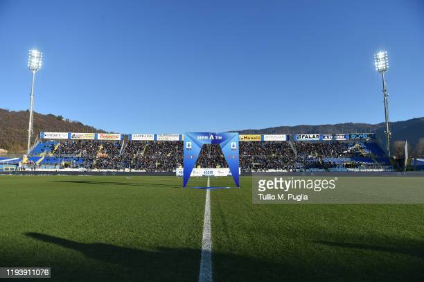 A general view during the Serie A match between Brescia Calcio and US Lecce at Stadio Mario Rigamonti on December 14 2019 in Brescia Italy