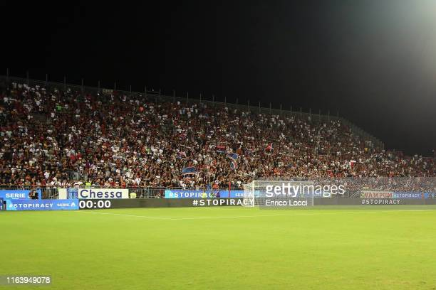 General view during the Serie A match between Cagliari Calcio and Brescia Calcio at Sardegna Arena on August 25, 2019 in Cagliari, Italy.