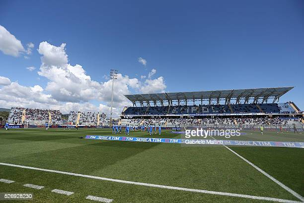 General view during the Serie A match between Empoli FC and Bologna FC at Stadio Carlo Castellani on May 1 2016 in Empoli Italy