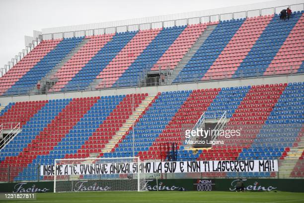 General view during the Serie A match between FC Crotone and Bologna FC at Stadio Comunale Ezio Scida on March 20, 2021 in Crotone, Italy.
