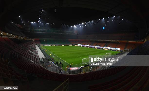 General view during the Serie A match between FC Internazionale and Bologna FC at Stadio Giuseppe Meazza on December 5, 2020 in Milan, Italy.