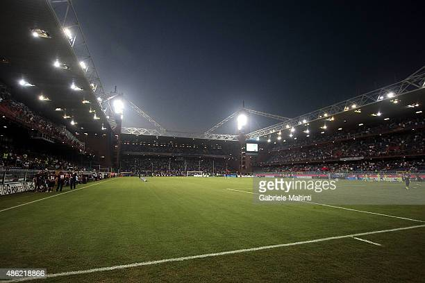 General view during the Serie A match between Genoa CFC and Hellas Verona FC at Stadio Luigi Ferraris on August 30, 2015 in Genoa, Italy.