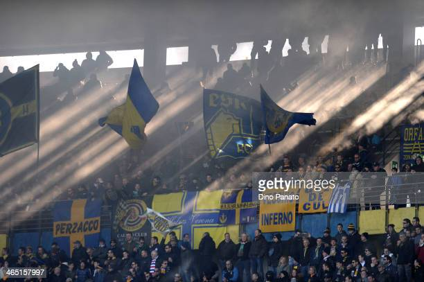 A general view during the Serie A match between Hellas Verona FC and AS Roma at Stadio Marc'Antonio Bentegodi on January 26 2014 in Verona Italy