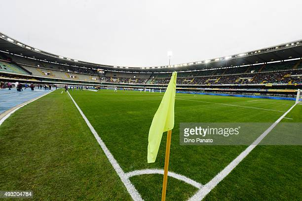 A general view during the Serie A match between Hellas Verona FC and Udinese Calcio at Stadio Marc'Antonio Bentegodi on October 18 2015 in Verona...
