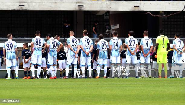 A general view during the serie A match between Hellas Verona FC and Spal at Stadio Marc'Antonio Bentegodi on April 29 2018 in Verona Italy
