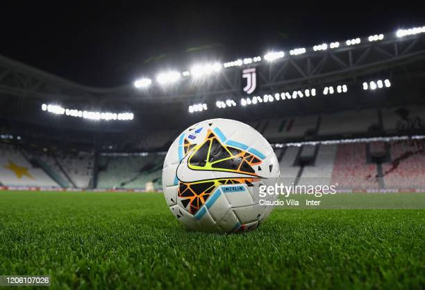 A general view during the Serie A match between Juventus and FC Internazionale played behind closed doors at Allianz Stadium after the Italian...