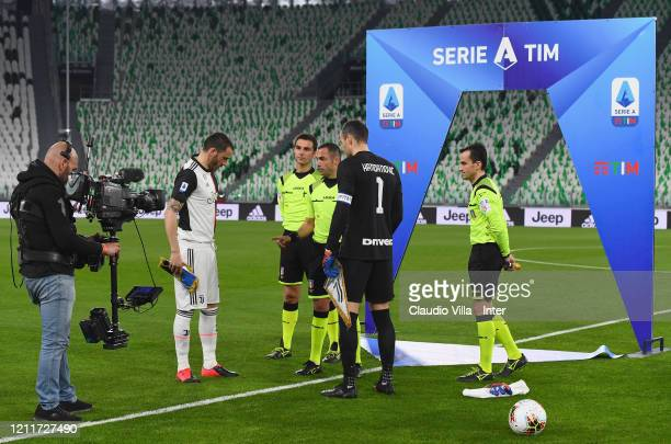 General view during the Serie A match between Juventus and FC Internazionale played behind closed doors at Allianz Stadium after the Italian...