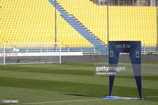 A general view during the Serie A match between Parma Calcio and SPAL at Stadio Ennio Tardini on March 8 2020 in Parma Italy The match was delayed...